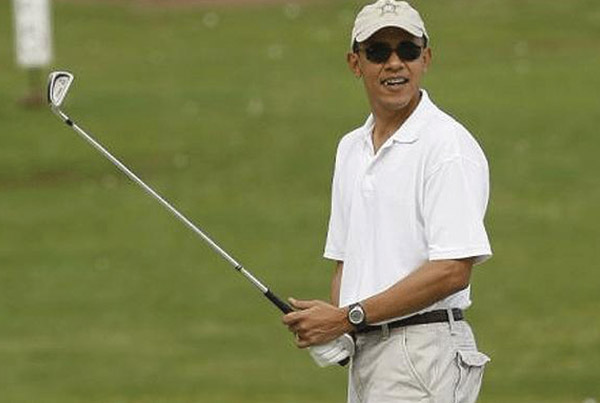 Celebrities' swing: featuring Barack Obama.